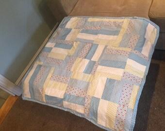 Pretty baby blue quilt