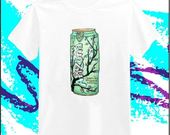 シ Vaporwave AESTHETIC Arizona Green Tea Short Sleeve T-Shirt シ