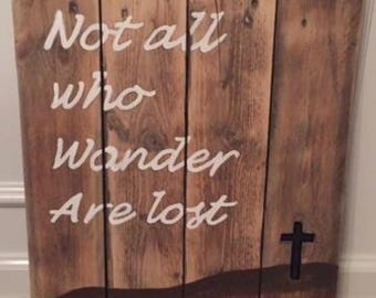 Reclaimed wood hand painted sign