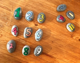 Maths Pebbles (Set of 15)