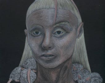Drawing Portrait Yolandi die antwoord