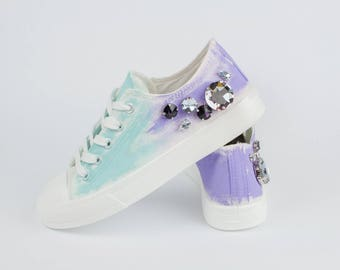 Custom sneakers with crystals