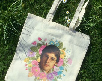 Louis Theroux Floral Tote Bag