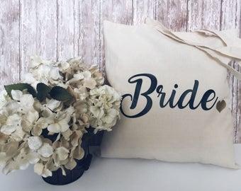 Bride/Bridesmaid Gift Tote- Custom Colors