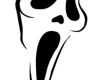 Scream Ghostface Horror Vinyl Car Decal Bumper Window Sticker Any Color Multiple Sizes