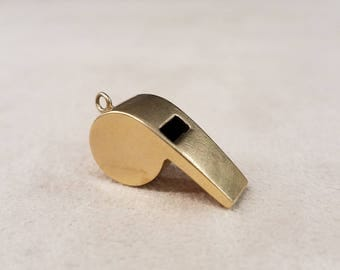 Gold Whistle Charm