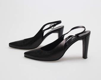 JILSANDER Vintage Sabot/slingback muli leather pointed toe size 39 eu - usa 9 - uk 6  -