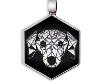 925 Silver Dachshund dog tag