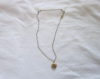 Antique Childs 12 K Gold Filled Photo Locket Necklace with original gold filled chain.