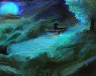"Uri redler's ""Blue Moon Fishing"""