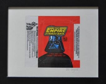 Vintage 1980 Artwork: Empire Strikes Back (Darth Vader)