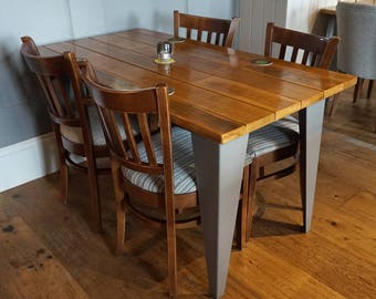 Reclaimed European Oak Hardwood Dining Table