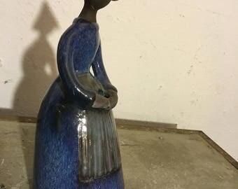 """Ceramic figures """"Flower Lady"""" ELSI Bourelius 60s ceramic figure 60's"""