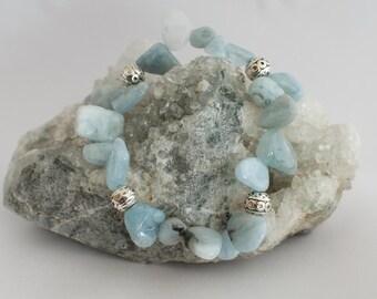 Blades aquamarine bracelet