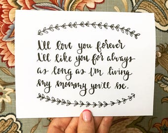 I'll love you forever - Mother's Day Card