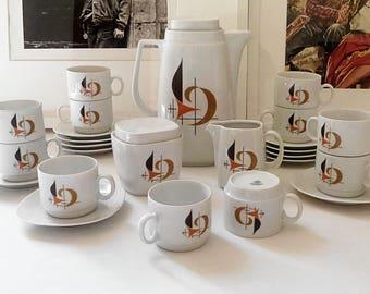 Service to coffee Schirnding Bavaria vintage 1960