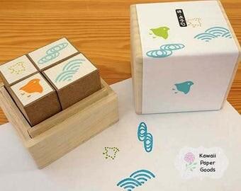 Kodomo no Kao Traditional Japanese Patterns Stamp Block Set A
