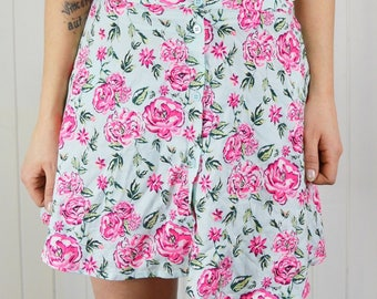 Mini skirt pattern floral, skirt girl, sweet, XS