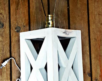 Country Chic Wood Lamp Base