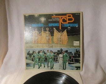 Diana Ross and The Supremes with The Temptations The Original Soundtrack from TCB 33 RPM LP