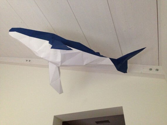 Low Poly Xxl Whale Model Create Your Own 3d Papercraft