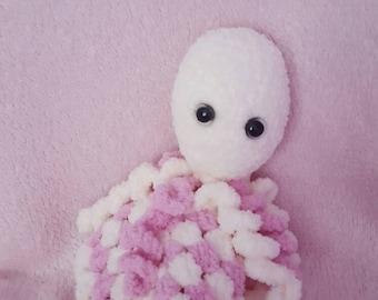 Cute crocheted lovey blanket octopus süß gehäkelt schmuse Tuch