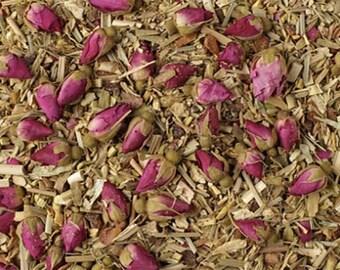 Herbal Ayurvedic Calming Tea - 3oz Herbal Loose Leaf Tea, Ayurvedic Tea for Stress, Stress Relief Tea, Anxiety Tea, Caffeine Free Tea