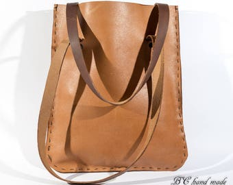 Dark BROWN BAG with handles
