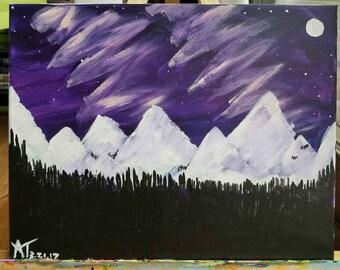 Aurora Borealis in the Mountains