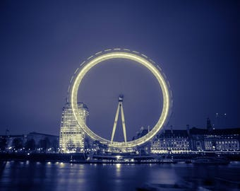 The London Eye at Night Print