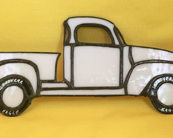 stained glass vintage truck
