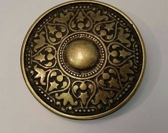 Celtic breast plate, brass, 6, 7 cm
