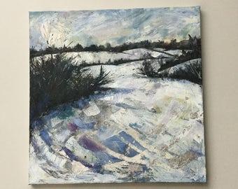 Original painting 'Snowy fields'