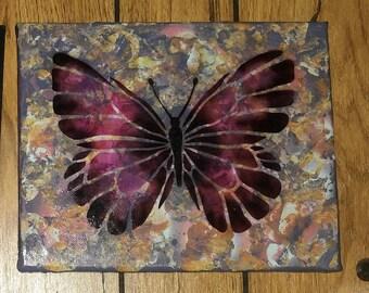 Butterfly Paint splatter Wall Decor