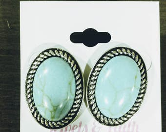 Real Turquoise Earrings