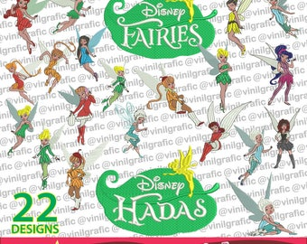 Fairies kit of 22 Embroidery Designs Sewing Patterns Kit Brother pes dst hus jef emb with Resizer Converter Software Included