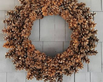 Pinecone Wreath All Natural /Rustic Home Decor