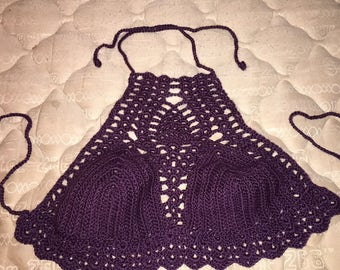 Handmade crochet crop tops, monokinis, bikinis, and more. Just in time for summer!