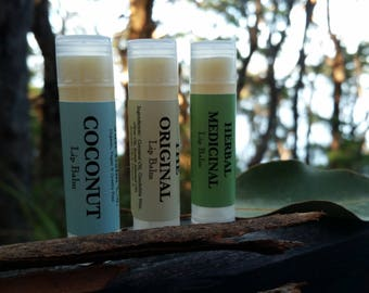 Vegan Lip Balm / Organic Lip Balm / Organic Herbal Lip Balm / All Natural Vegan Lip Balm / Candelilla Wax / Simple Organic, Vegan Lip Balm