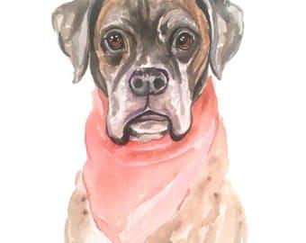 Custom pet portrait, dog watercolor, pet watercolor, custom pet painting, custom dog portrait, cat portrait, cat painting custom, gift