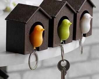 Bird House Keychain, Keychain, Bird Keychain, Key Holder, Organizer, House Keys, Car Keys, Hot, Hot Keychains, Key Ring