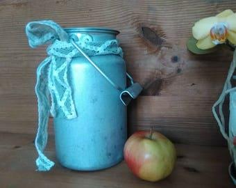 Vintage Aluminum Milk Can,Old Milk Can, Made in USSR Garden Decor Farmhouse Kitchen Decor Russian Soviet Union