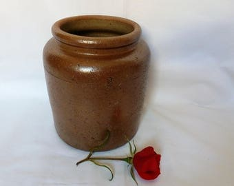 Old pottery glazed earthenware / pottery campaign / french vintage / jars and containers / confit Pot / old canning jar.