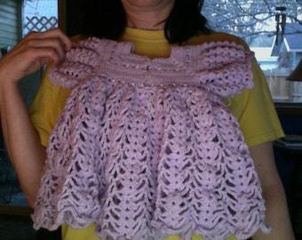 Handmade crocheted Lavender Baby Dress