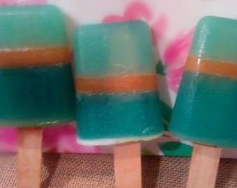 Festive cute summer popsicle soaps