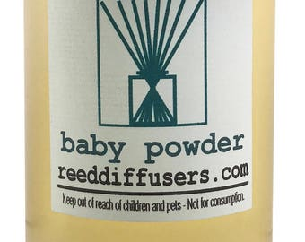 8 oz Baby Powder Fragrance Reed Diffuser Oil Refill - Made in the USA
