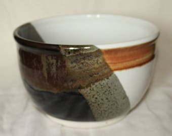 Black White and Gold Bowl