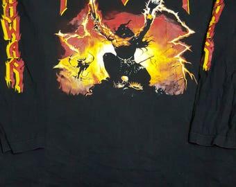 Vintage//90s//Manowar (Triumph of steel) Long sleeve t shirt//Power metal