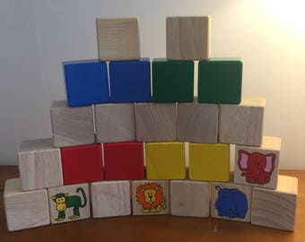 Large Coloured Wooden Blocks