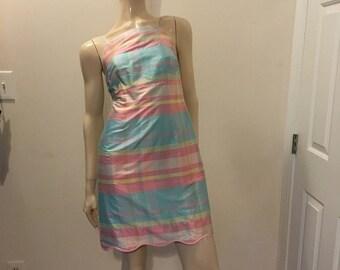 Vintage Lilly Pulitzer Scalloped Hem Dress Size 6